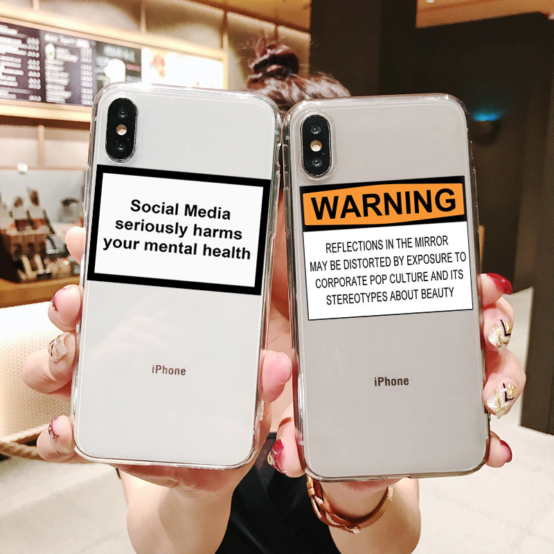 Social Media seriously harms your mental health Soft silicone TPU print case phone cover for iPhone MAX XR XS X10 SE 5 6 7 8Plus image