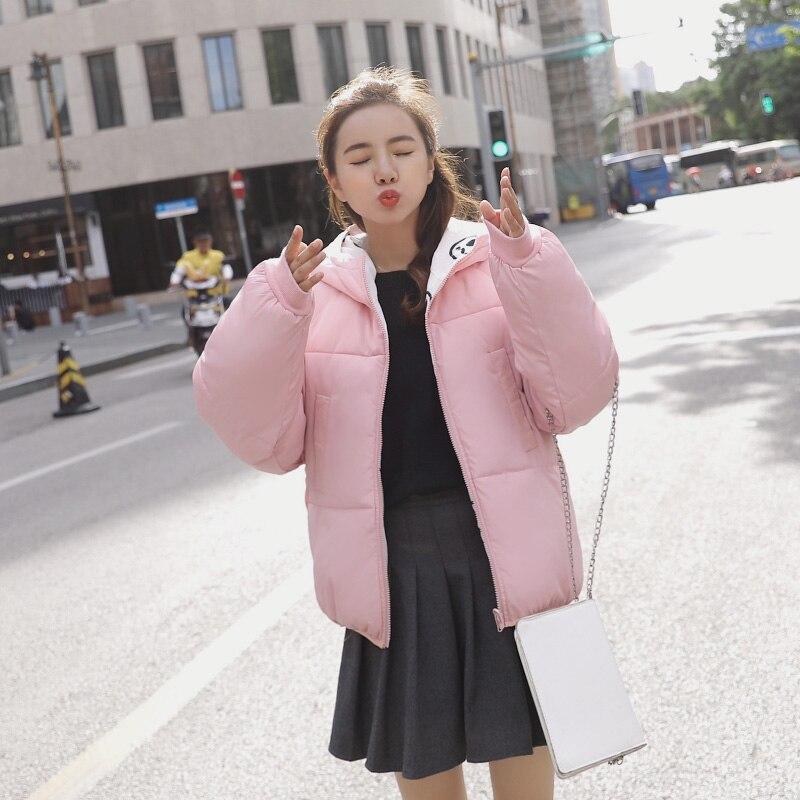 Portent Chaude Oversize Coton D'hiver Bas Avec blanc rose Casual Noir Côtés Deux Court Veste Manteau Femmes Capot Top2018 Le rouge Dame Parkas Vers qTwUPpgxI