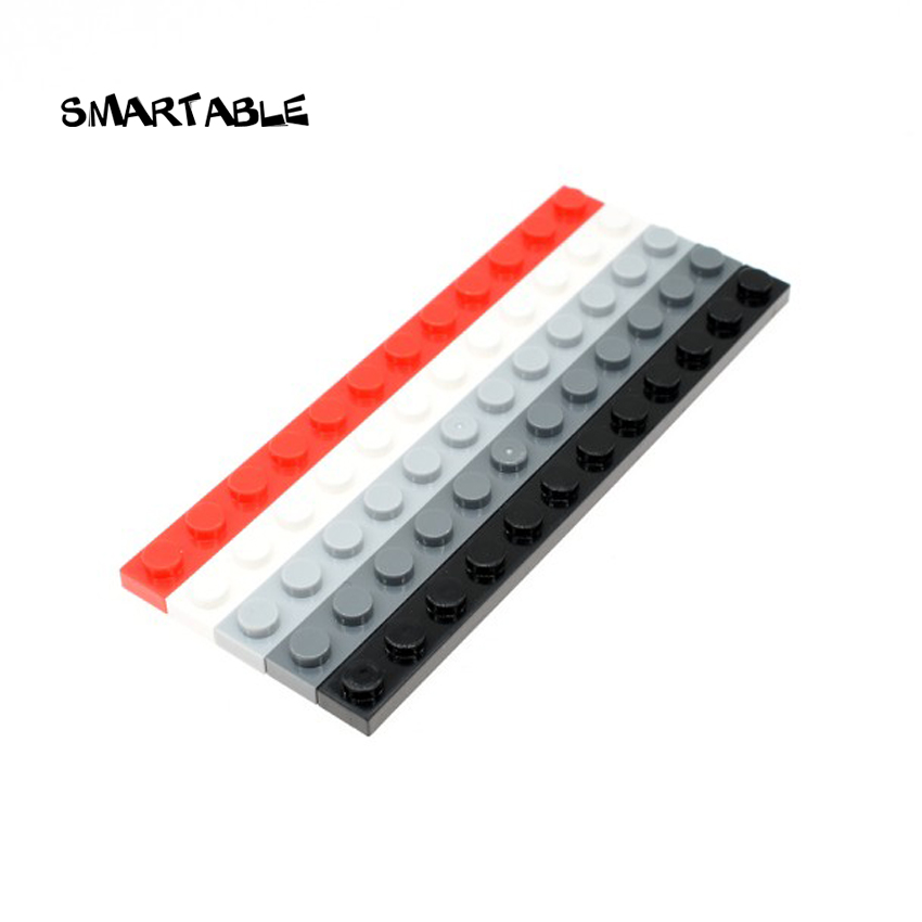 Smartable Plate 1X12 Building Blocks Parts Toys For Kids Educational Creative Compatible Major Brand 60479 MOC Toys 40pcs/lot image