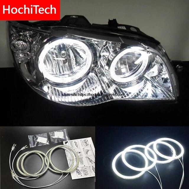HochiTech für Fiat Albea 2005 2012 Ultra helle SMD weiß LED engel augen 2600LM 12 v halo ring kit tagfahrlicht DRL