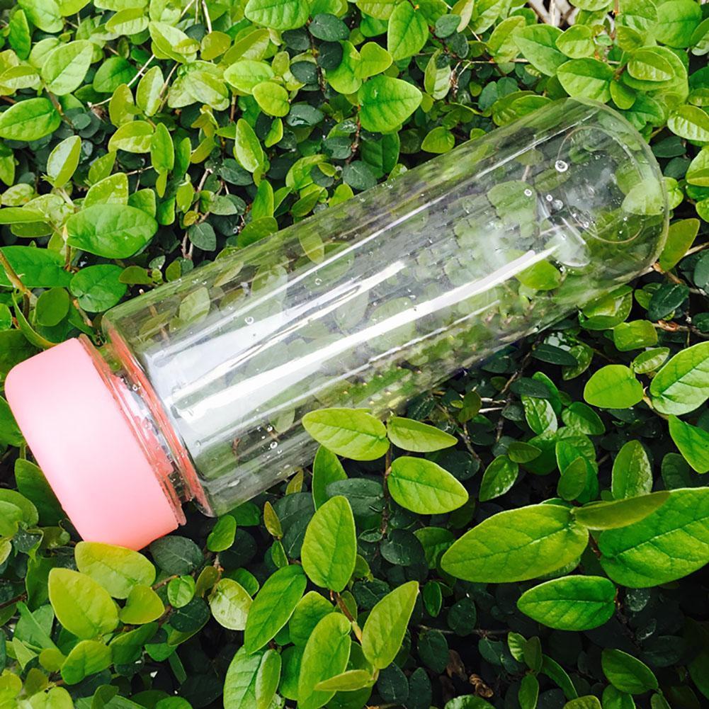 Plastik Açık Kamp Taşınabilir Spor Seyahat Meyve Su Şişesi 500 ML Pembe PJW