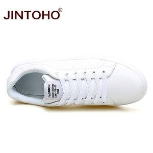 Image 5 - JINTOHO גדול גודל מותג אופנה מקרית עור נעלי גברים עור נעלי עור גברים סניקרס לבן זכר עור נעליים