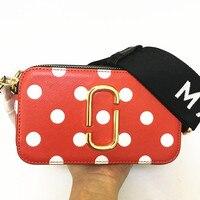 2019 leather new camera mini bag handbag wide shoulder strap diagonal cross bag mixed color small square bag