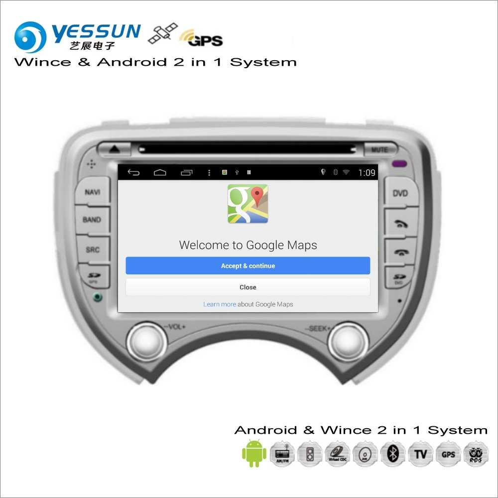 YESSUN For Nissan March / Micra K13 / For Renault Pulse - Car Radio CD DVD  Player GPS Navigation Wince & Android S160 System