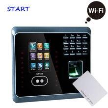 ZK UF100 плюс Биометрические лица и отпечатков пальцев посещаемость времени с RFID кард-ридером wifi лица Время часы посещаемость сотрудников