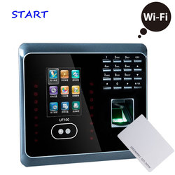 ZK UF100 Plus Biometric Face And Fingerprint Time Attendance With RFID Card Reader WIFI Face Time Clock Employee Time Attendance