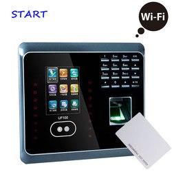 ZK UF100 Plus biométrico cara y huella digital tiempo de asistencia con lector de tarjetas RFID WIFI cara reloj de tiempo empleado tiempo de asistencia