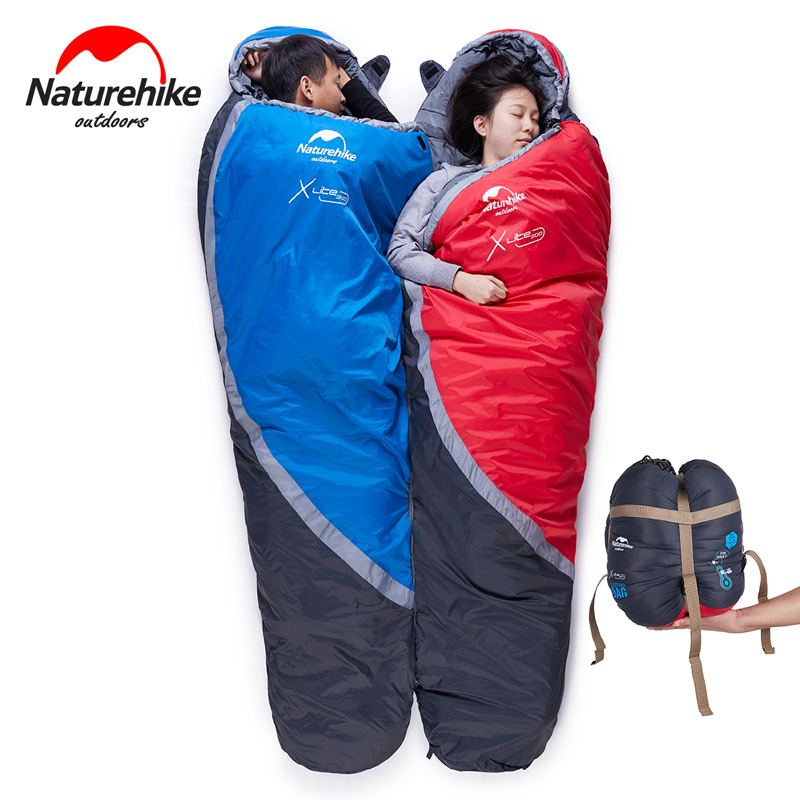 Naturehike sleeping bag outdoor camping accessories mummy adult sleeping bag Ultralight Hiking tourist equipment NH15S001-S