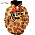 BKYOGA Delicious Pizza Food 3D painting sweatshirt hoodies long sleeve Suit Hoodie Outside Woman Sudaderas