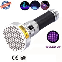 AloneFire Super 100LED UV Light 395 400nm LED UV Flashlight torch light uv lamp