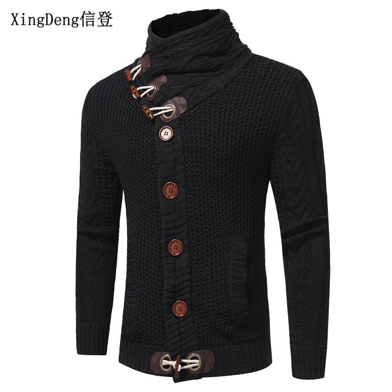 XingDeng водолазка одежда шерстяная рубашка для мужчин осеннее пальто трикотаж мода Водолазка Повседневный пуловер с длинным рукавом