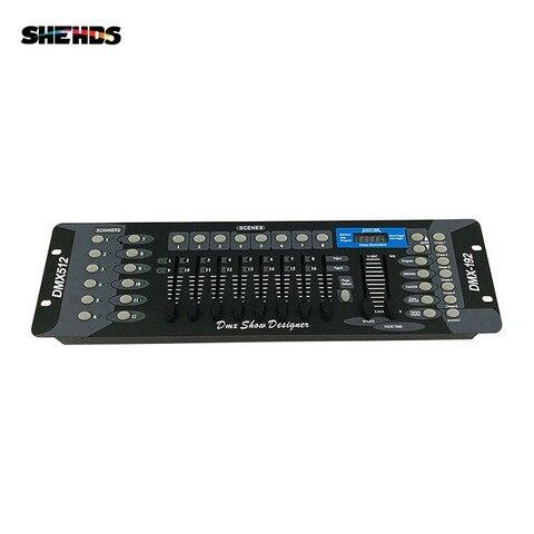 frete gratis novo 192 dmx controlador dj equipamentos de iluminacao de palco dmx 512 console