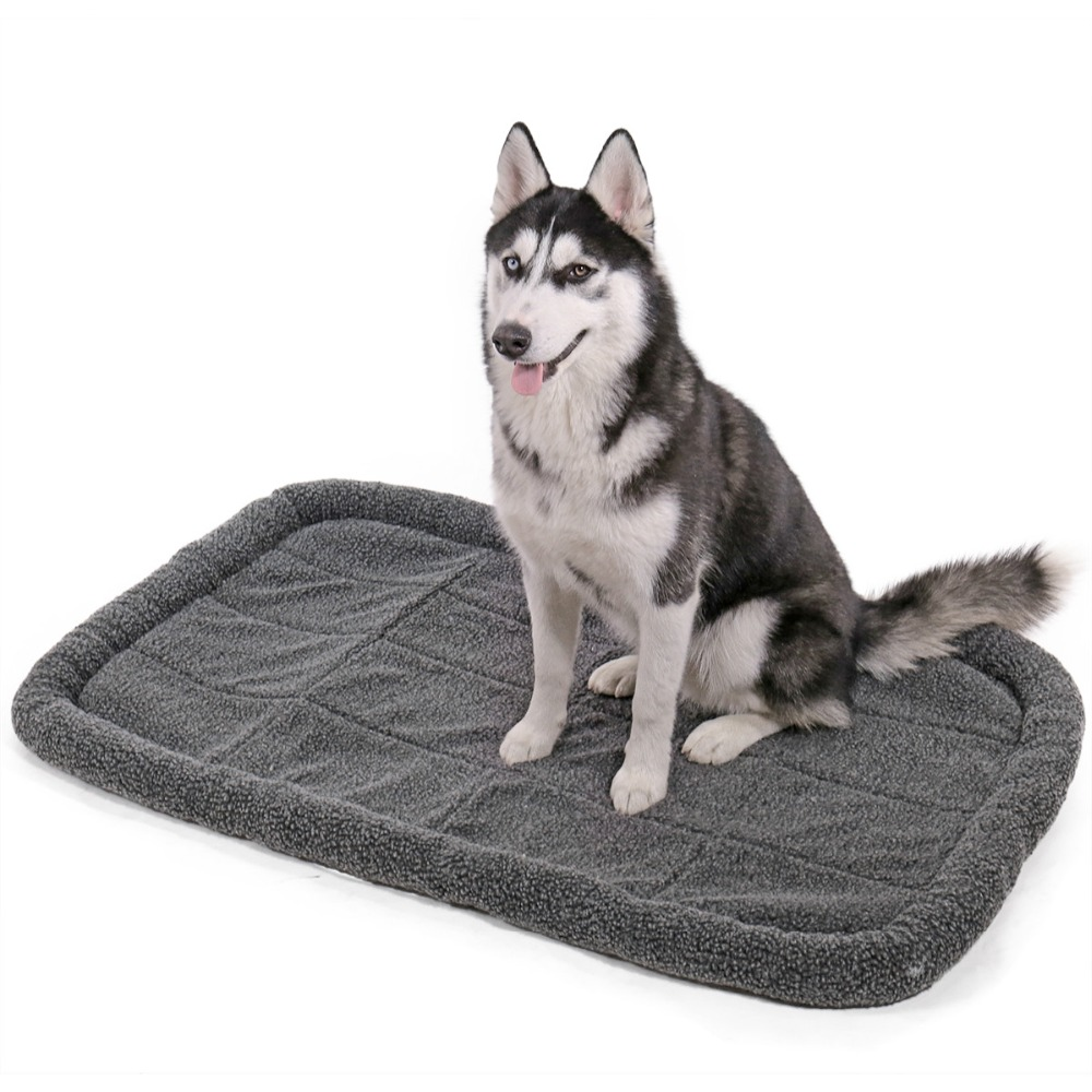 US Domestic Delivery Pet Sleeping Warm Faux Lambswool Washable Cushion Mats Soft Durable Dog Cat Bolster Bed Crate Kennel Pad