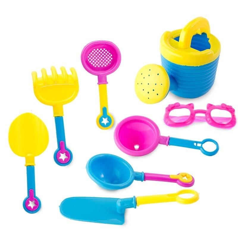 Beach toy Plastic sand bucket with toys beach sand buckets set playing tool shovel dredging playa kid outdoor juguetes de playa