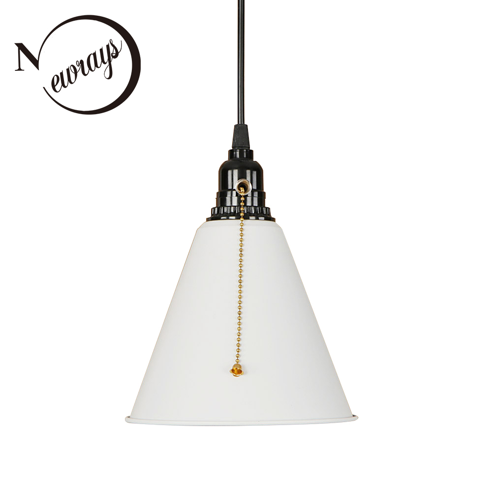 Modern iron creative black painted pull chain switch hanging lamp E27 LED 220V Pendant Light For Kitchen parlor dining room cafe nordic wrought iron simple modern pendant lamp with led bulb dinning room light cafe lamp e27 110v 220v free shipping