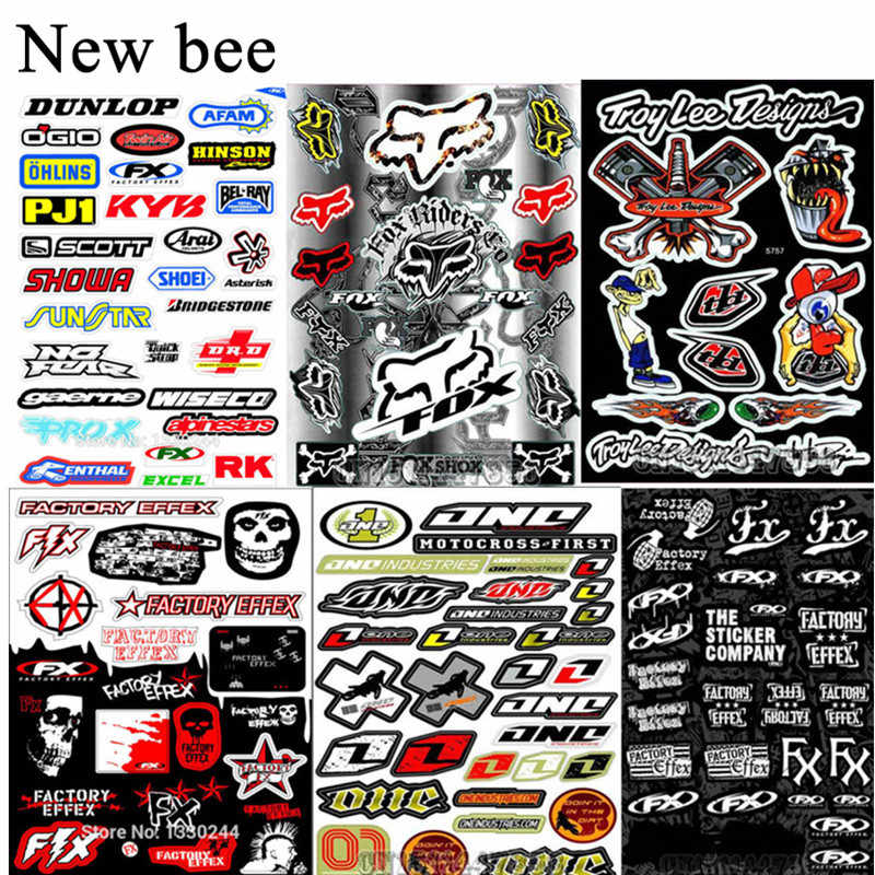 Newbee Tengkorak Stiker Film untuk Sepeda Motor Sepeda Mobil Unit Skuter Lucu Decals PVC Tahan Air Scrawl untuk Honda Suzuki Kawasaki