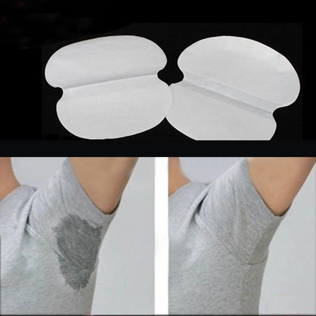Top Selling 6/12/18pcs/set  White Stretch Cotton Convenient Easy Anti-perspirant Stick Absorb Sweat Towels Armpit