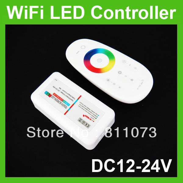 Wholesale + DC12-24V WiFi RGB Wireless LED RF Touch Controller For Strip Light
