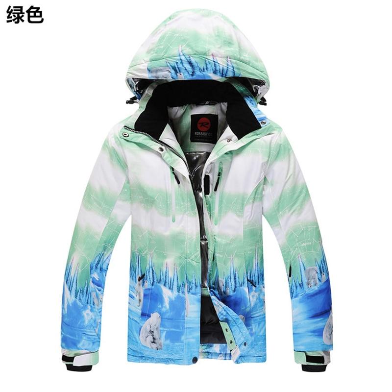 Prix pour Léger respirant combinaison de ski féminin modèles de ski en plein air vêtements imperméable coupe-vent chaud chaud épais gratuite section plus épaisse