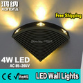 Free Shipping 4W LED Wall Lamp with Aluminum Body Different Light Colors Red+Green+Blue+Yellow