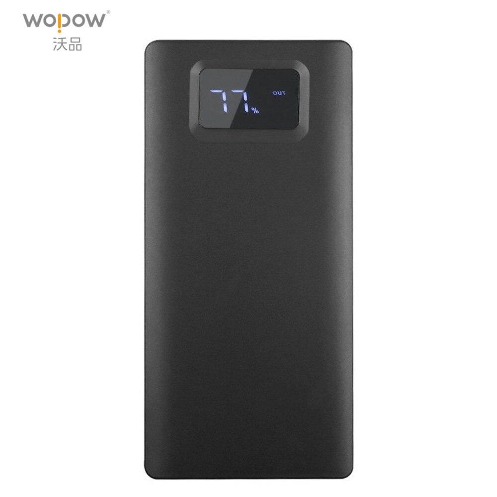 Wopow 20000 mah energienbank Ultradünne Bewegliche Energienbank mit LCD-Display Große Kapazität 20000 mah Externe Batterie-Backup