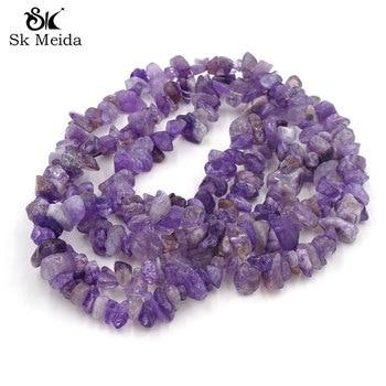 Abalorio de cuenta de piedra Amatista púrpura de 5-10mm irregularmente, joyería de...