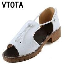 Vtota женская обувь модные сандалии Женская обувь на платформе Женские босоножки на платформе, с открытым носком мягкая удобная женская обувь tenis feminino X420