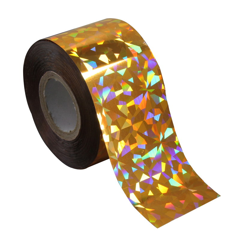 120m*4cm Gold Glitter Nail Art Foil Shiny Shattered Glass Nail Art Transfer Foil Women DIY Pop Make Up Tool Manicure Tip WY279 holographic manicure nail art foils diy glitter holo transfer nail foil roll women nail sticker decorations 120m 4cm wy299