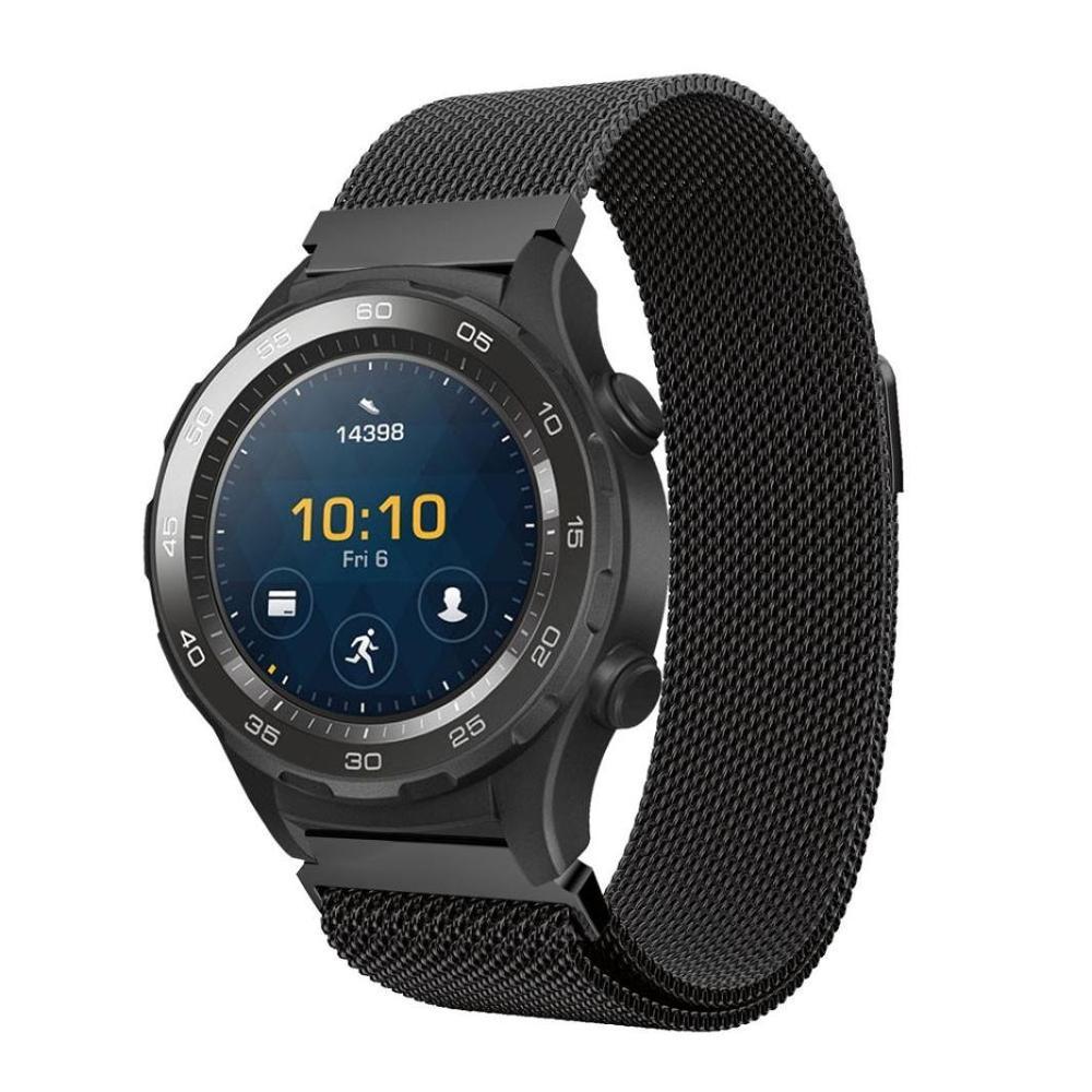 Huawei Watch2 Band Strap Fashion- ի համար Միլաններ չժանգոտվող պողպատից ձեռնաշղթա մետաղի արագ թողարկումով 20 մմ ժամացույցի նվագախումբ Huawei Watch 2-ի համար