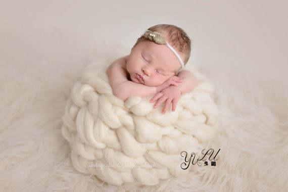 Newborn Cocoon Photo Prop Robin Egg Blue