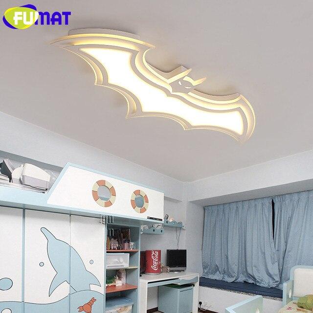 Kinderzimmer Deckenleuchten | Fumat Weiss Batman Deckenleuchte Led Cartoon Kinderzimmer
