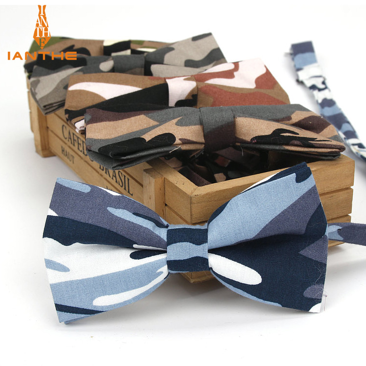 Brand  New Novelty Camouflage Man's Adjustable Cotton Bowtie Butterfly Bow Tie Necktie Gravata Borboleta Bow-tie Men Prom Party