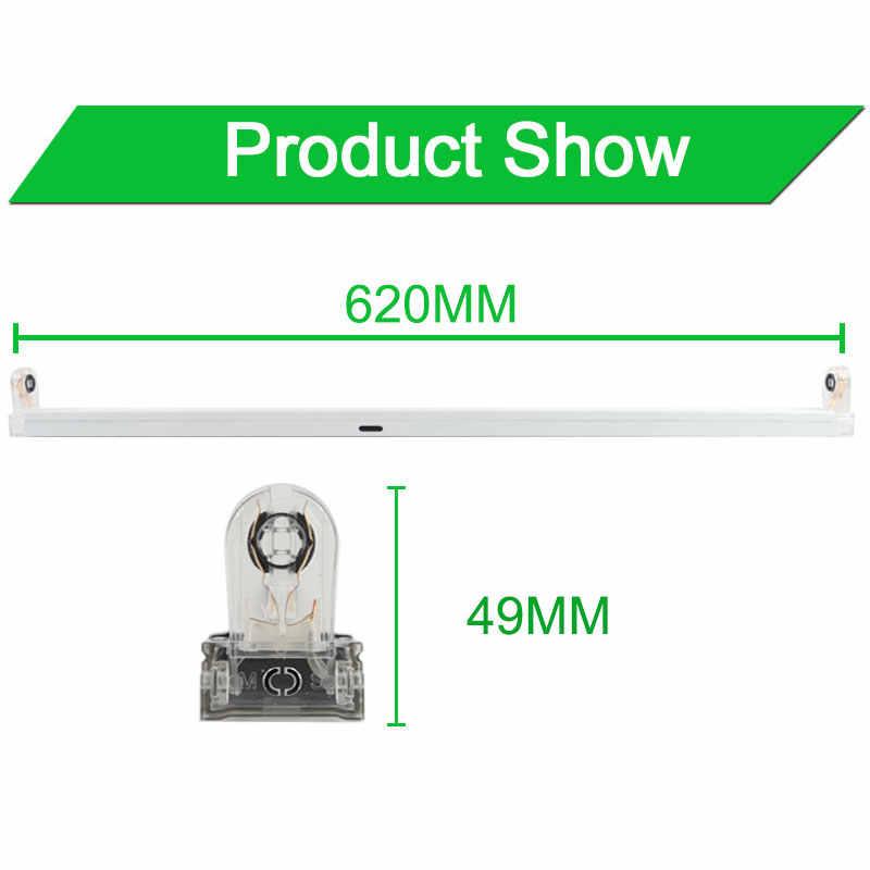 Type se pliant T8 LED Tube luminaires Support pour 2Ft 60cm 600mm lampe fluorescente Tube lumière/Support/Base/Support 1200mm 120cm 4Ft