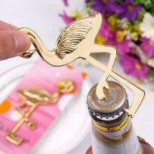 Gold Color Flamingo Party Favor Bottle Opener