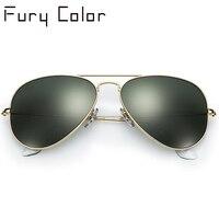 Réel lentille En Verre de Soleil de l'aviation femmes hommes chauds rayons de mode pilote lunettes de soleil féminin lunettes nouveau nuances oculos de sol 3025