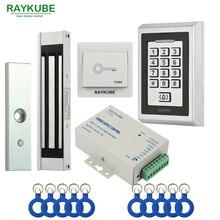 RAYKUBE Elektrische Magnetische Schloss Access Control System Kit 180 kg/280 kg + Metall FRID Tastatur Türschloss