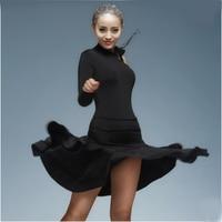 Latin Dance Dress Women Sexy Ballroom tango Latin Shirts Skirt danskleding franjas roupas tanzrock latein Wear Costumes for Girl