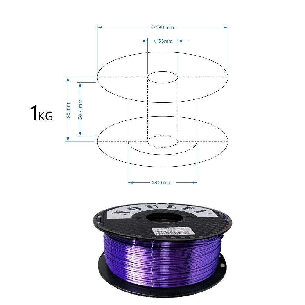 23 4 3D Printing Filament 1.75 SILK PLA PURPLE