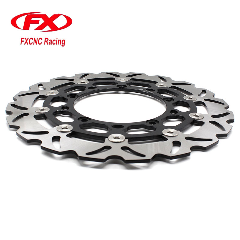 FX CNC Motorcycle 320mm Floating Front Brake Disc Disks Rotor For YAMAHA R25 R3 2015-2016 Motorbike Front Brake Disc Disks Rotor 320mm floating motorcycle brake disc disks rotor for ktm duke 125 200 390 duke 2013 2016 motorbike front brake disc disks