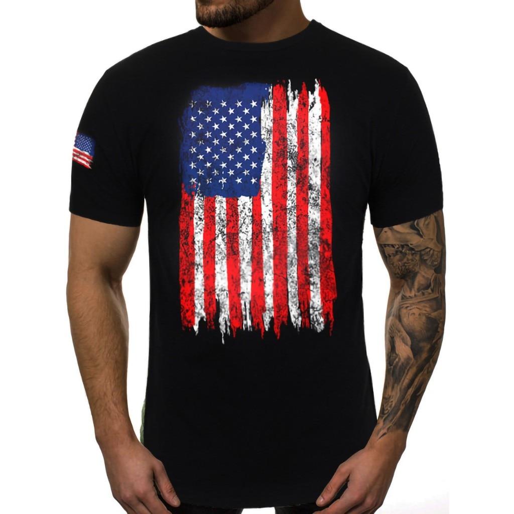 103 AMERICAN FLAG DISTRESSED YOUTH T-SHIRT USA PATRIOTIC STAR STRIPES
