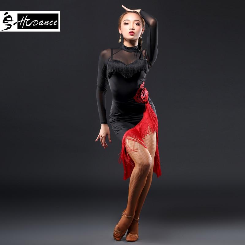 HCdance New Brand 1 Color Latin dress Dress For Women Girl High Grade Tassel Dress Rumba