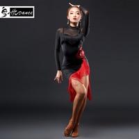 HCdance New Brand 1 Color Latin dress Dress For Women Girl High Grade Tassel Dress Rumba Flamengo Ballroom Dance Dress A3131