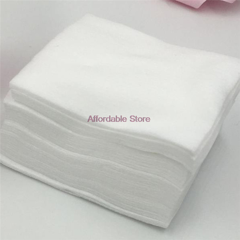 100Pcs Makeup Cotton Non-woven Fabric Cosmetic Remover Cotton Pure Cotton Pad Disposable Face Towel Nail Polish Makeup Wipe