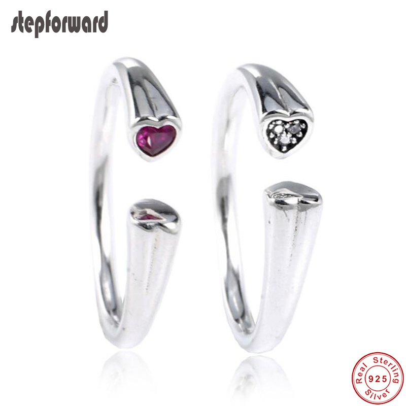 New Collection Top Quality Simple Noble 925 Sterling Silver Open Heart Toe Ring
