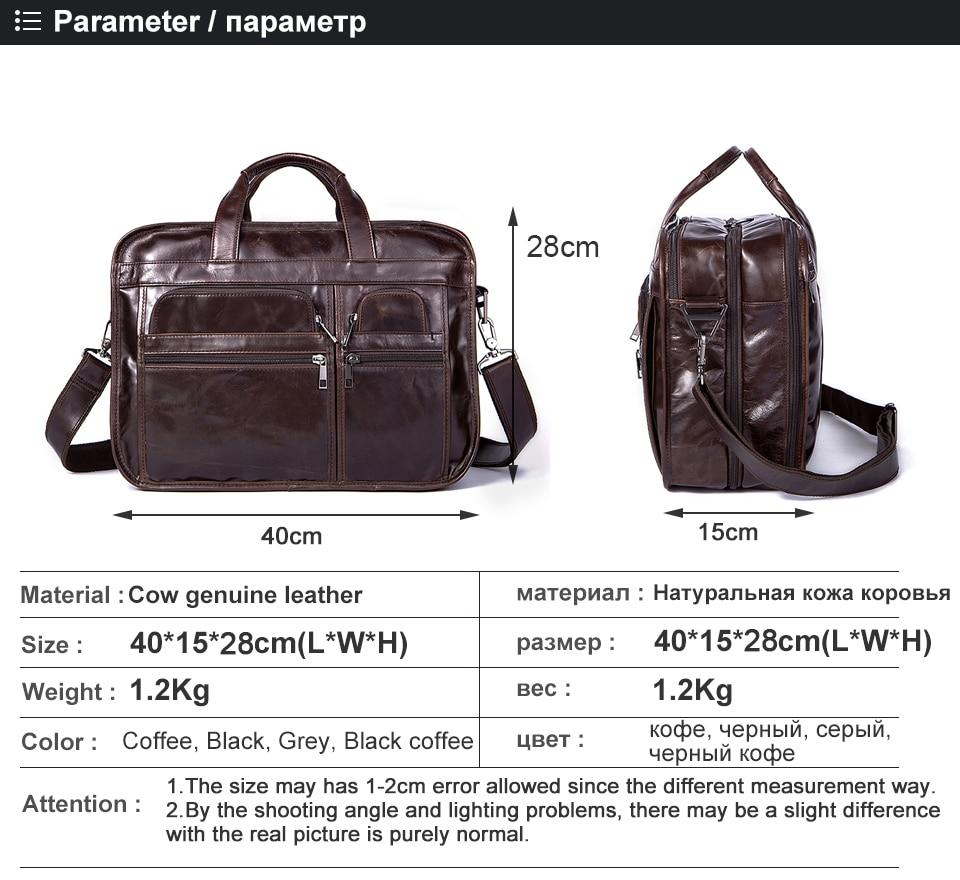 HTB1hseMnCtYBeNjSspaq6yOOFXad WESTAL men's genuine leather bag for men's briefcase office bags for men leather laptop bag document business briefcase handbag