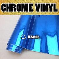 BLUE CHROME Vinyl Roll Sticker Dark Chrome Blue Vinyl Sheet Air Bubble Free For Car Wrapping
