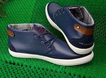 Classics Men's Boots boys blue men shoes 2015 zapatillas deportivas Genuine Leather Breathable Massage 6 colors, 39-47 size