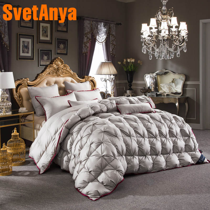 Svetanya Goose Down Duvet quilted Quilt thick Comforter 3d Bedding Filler White Gray Pink Yellow CoffeeSvetanya Goose Down Duvet quilted Quilt thick Comforter 3d Bedding Filler White Gray Pink Yellow Coffee