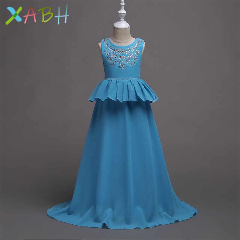 Детские платья-пачки без рукавов для девочек, бальное платье для выпускного вечера, платье подружки невесты для свадьбы, детское платье для первого причастия для выступлений