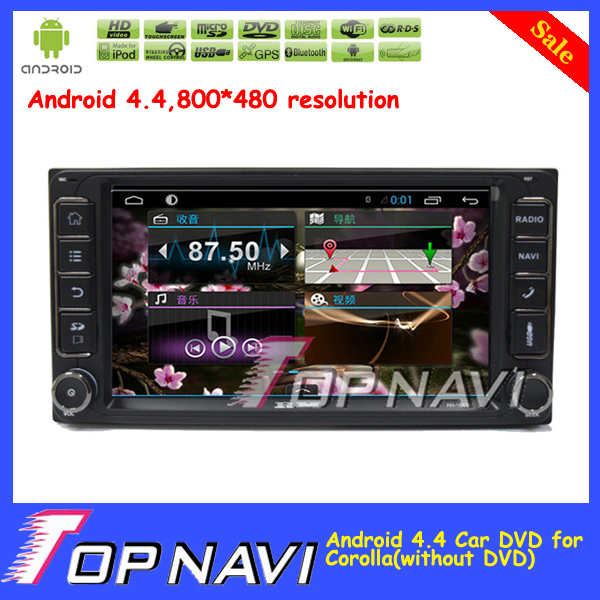 Top Professional Capacitive Screen 7 Android 4 4 Car DVD Stereo For Corolla With GPS Map